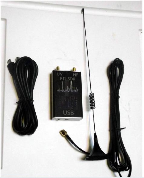 Drop shipping 100KHz-1.7GHz full band UV HF RTL-SDR RTL.SDR USB Tuner Receiver/ R820T+8232 Ham Radio new version 100khz 1 7ghz uv hf full band software radio rtl sdr receiver rtl2832 r820t2 usb tuner