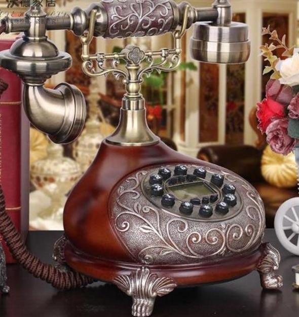 Antiken Weinlesetelefon Mode Rustikalen Telefon Wahlwiederholung/freisprecheinrichtung/anrufer-id Dis-8980