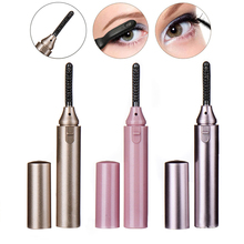 Lipstick Shape Electric Perm Heated Eyelash Curler Double Sided Lasting Curling Iron Eyelashes Applicator Curly Lash Makeup Tool