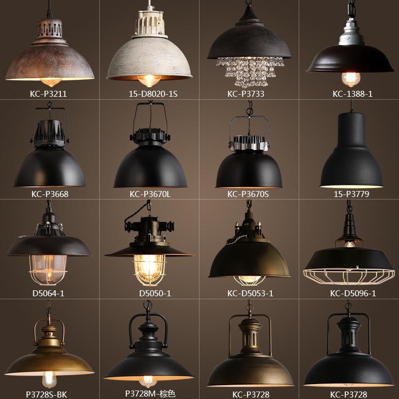 Vintage Rustikalen Metall lampenschirm Edison Anhänger lampe lichter Retro Glanz schatten hängen lampe Leuchte Industrie beleuchtung lamparas