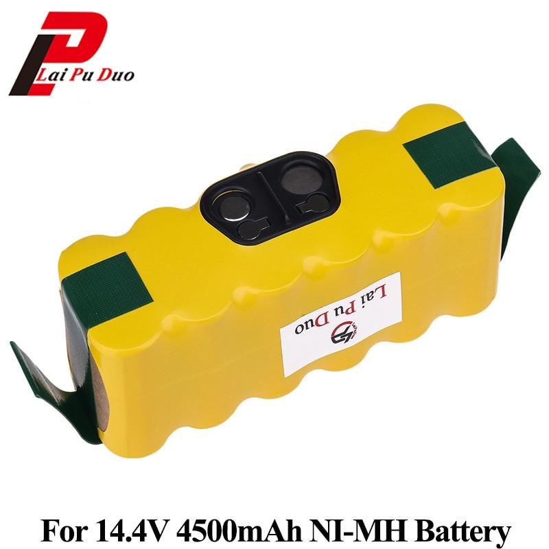 NI-MH 14.4 v 4500 mah Batteria Per iRobot Roomba 500 560 530 562 550 570 581 610 770 760 780 790 880 Sostituibile Batteria Robotica
