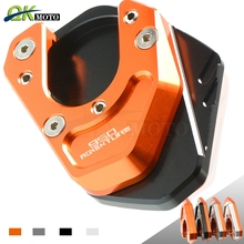 Motorcycle accessories Side Stand Enlarge Kickstand Extension Plate Pad CNC for KTM 950 ADVENTURE S 950ADVENTURE 2004 2005 2006 motorcycle cnc kickstand foot side stand extension pad support plate enlarge stand for ktm 950 supermoto 2006 2007 with logo