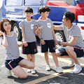 Casual Family Set Striped T-shirt+Shorts Family Clothing Sets Mother Daughter Father Son Parent-Child Set Family Clothing KD32