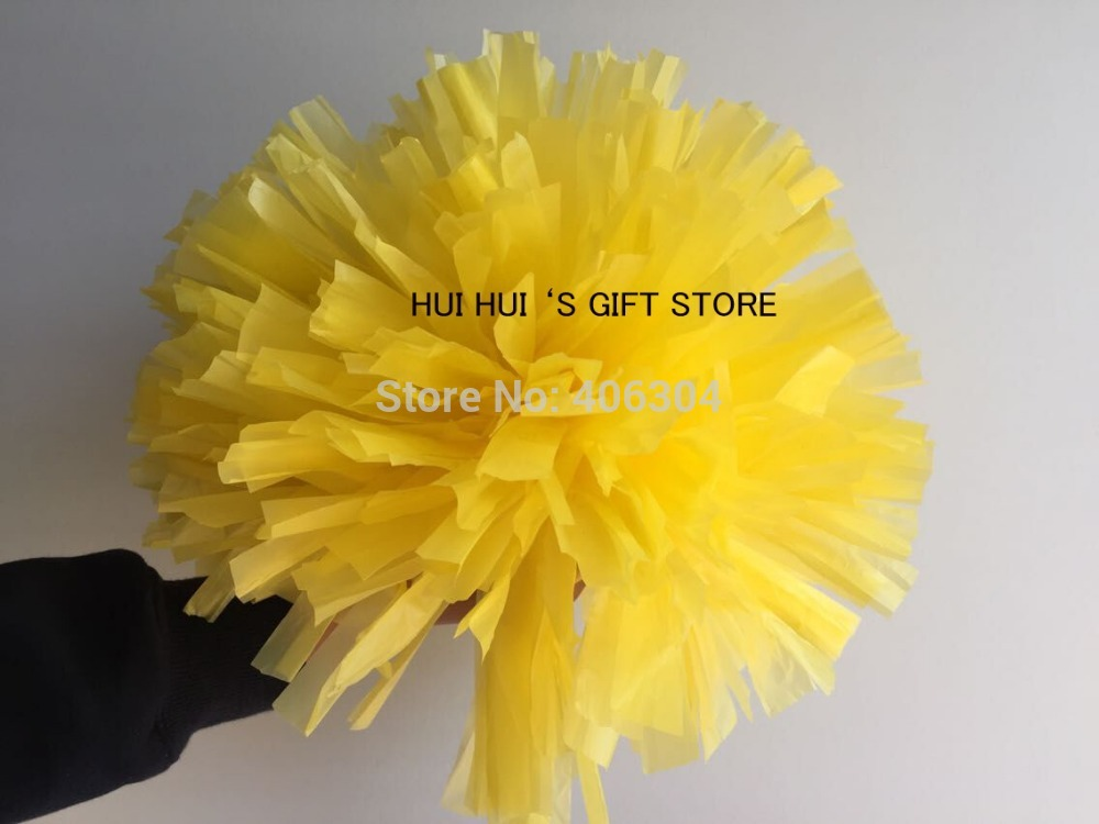 100G Plastic Cheering pompom,PE Pom Pom,Cheerleading products,red,yellow,blue,pink,white,black ,orange,green ballroom costume