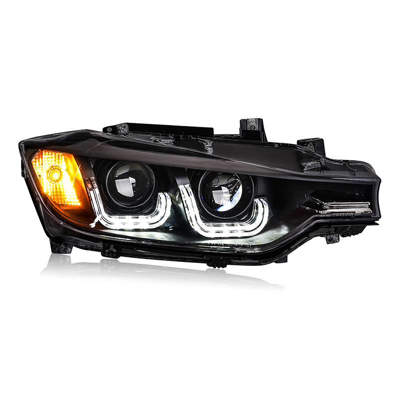 KOWELL Car Styling For 3 Series F30 headlights 2013 16 For F30 LED head lamp Angel