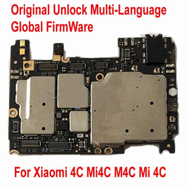 Dorigine Multilingue Débloquer Carte Mère Pour Xiaomi 4C Mi4C M4C Carte Mère Mondial FirmWare Puces Logique Frais Conseil Câble Flexible