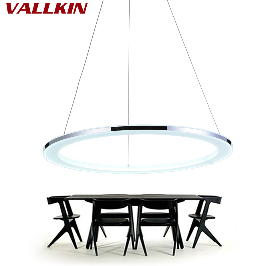 Modern pendant lamp led pendant lights Single Ring acrylic Light Fixtures LED Lighting for living dining room kitchen mamei free shipping 3 lights crystal led pendant light fixtures for dinner room kitchen island led included