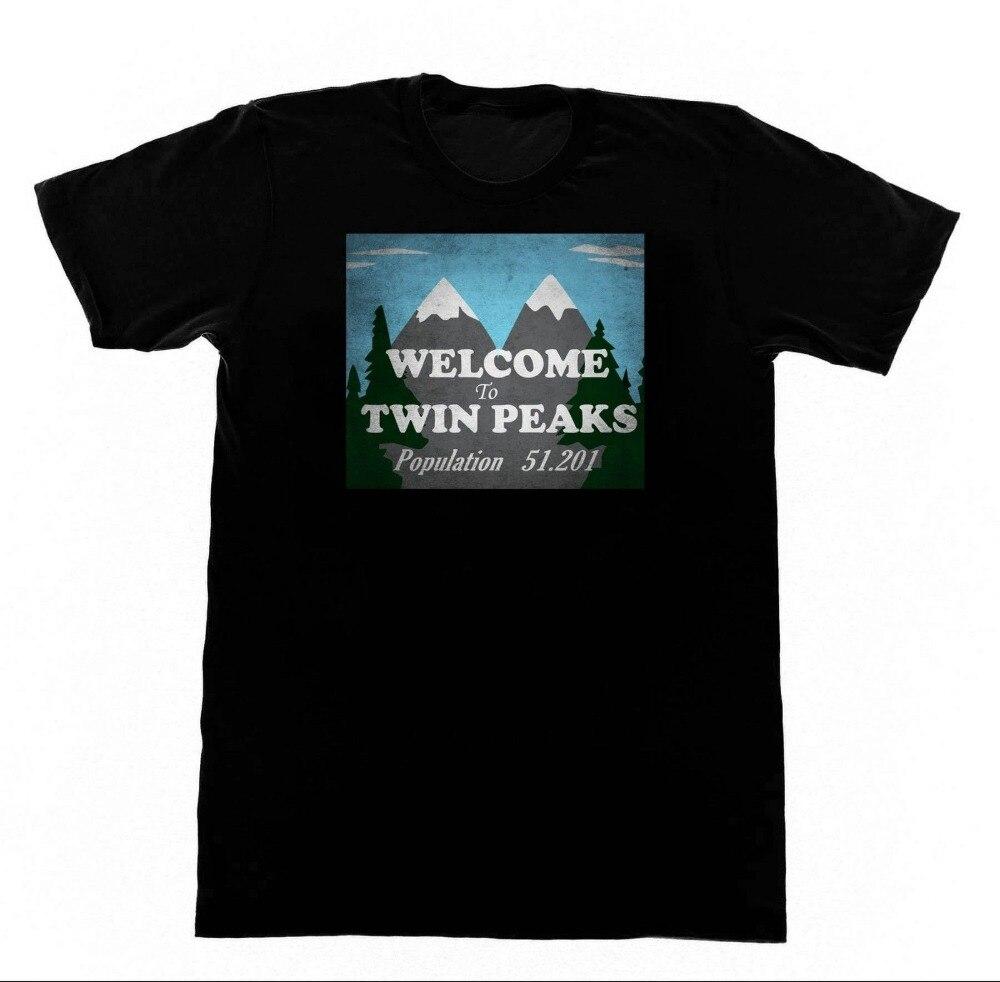 Fashion Funny Tops TeesWelcome to Twin Peaks - Shirt TShirt 110 Shirt David LynchO-Neck Streetwear Tees