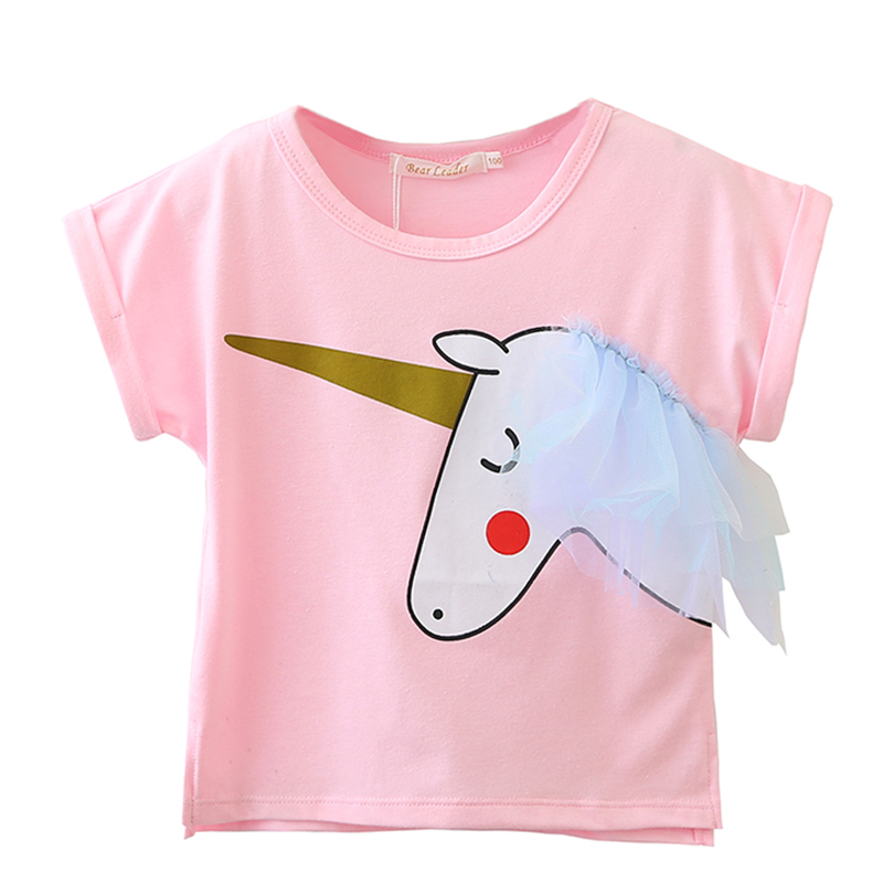 6963435ca505 Girls 2018 Summer New Baby Girls Clothing Sets Fashion Style Cartoon ...