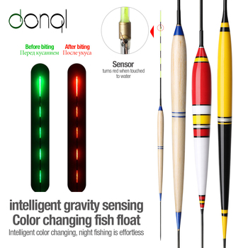 DONQL Smart Fishing Led Light Float Fish Bite Automatically Glowing Float With Battery