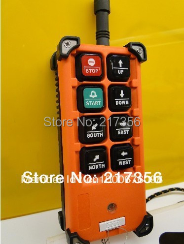F21-E1B(include 1 transmitter and 1 receiver)/6 buttons 1 Speed Hoist crane remote control wireless radio Uting remote control