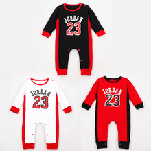 3 Colors Newborn Clothing Baby clothes Cotton Printed jordan Baby boy Rompers Infants Bebes Long sleeve Coveralls For newborns