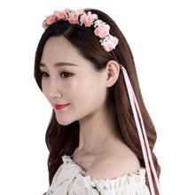 Cute Mommy & Kids Wreath Flowers Headband Floral Crown Hairbands Travel Wedding Girls Headwear