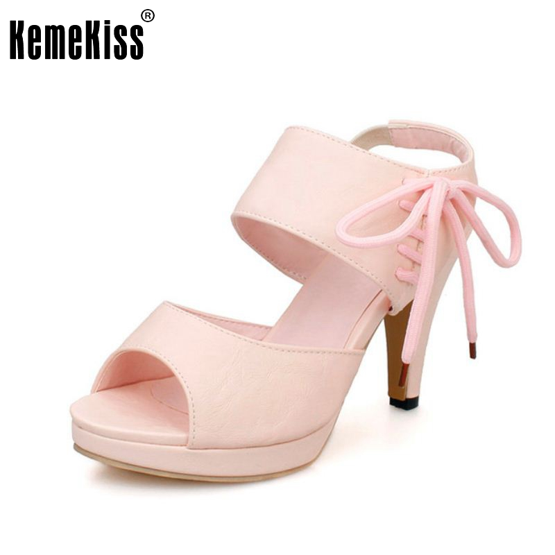 Size 31-43 Woman High Heels Sandals Fashion Peep Open Toe Sexy Ankle Wrap Sandal Shoes Women Party Dress Zapatos Mujer PA00442 cdts 35 45 46 summer zapatos mujer peep toe sandals 15cm thin high heels flowers crystal platform sexy woman shoes wedding pumps