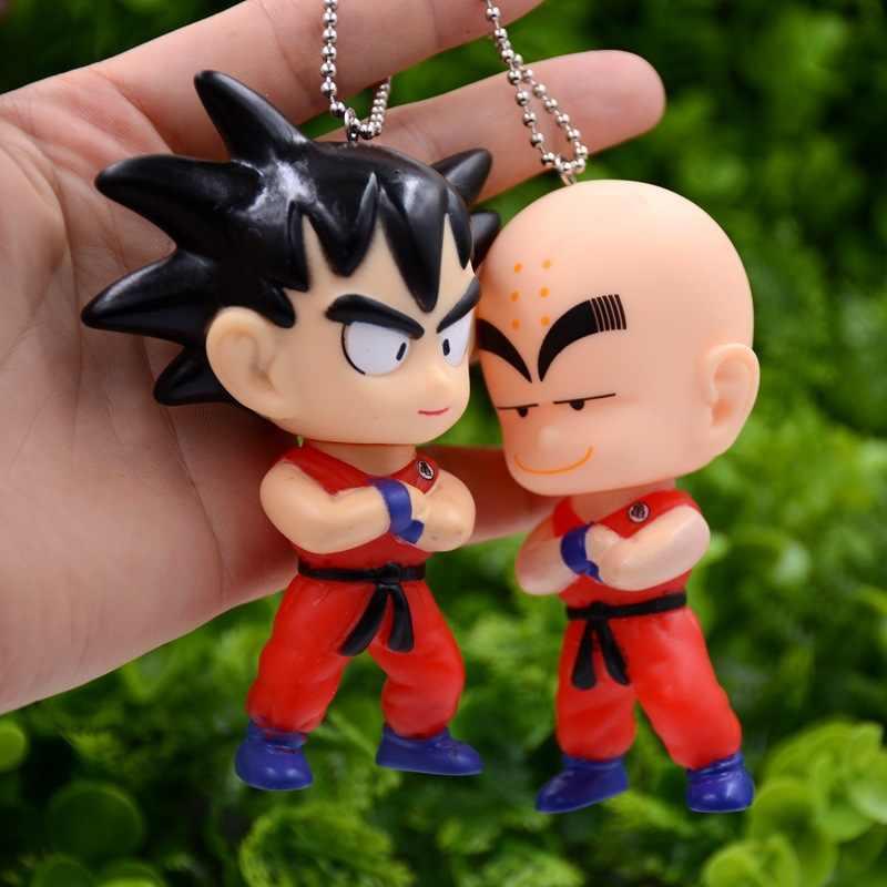 10 CENTÍMETROS Hot Anime Dragon Ball Z Goku Dragonball Chaveiros Pvc Plástico Kulilin Vegeta Super Saiyan Goku Brinquedos de Presente Pingentes para Os Fãs