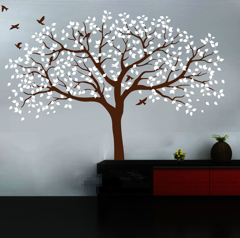 210*250cm Large Nursery Tree Wall Stickers Vinyl Decal Art Mural Removable TV Background Stickers Muraux Wallpaper Mural D472 - 3