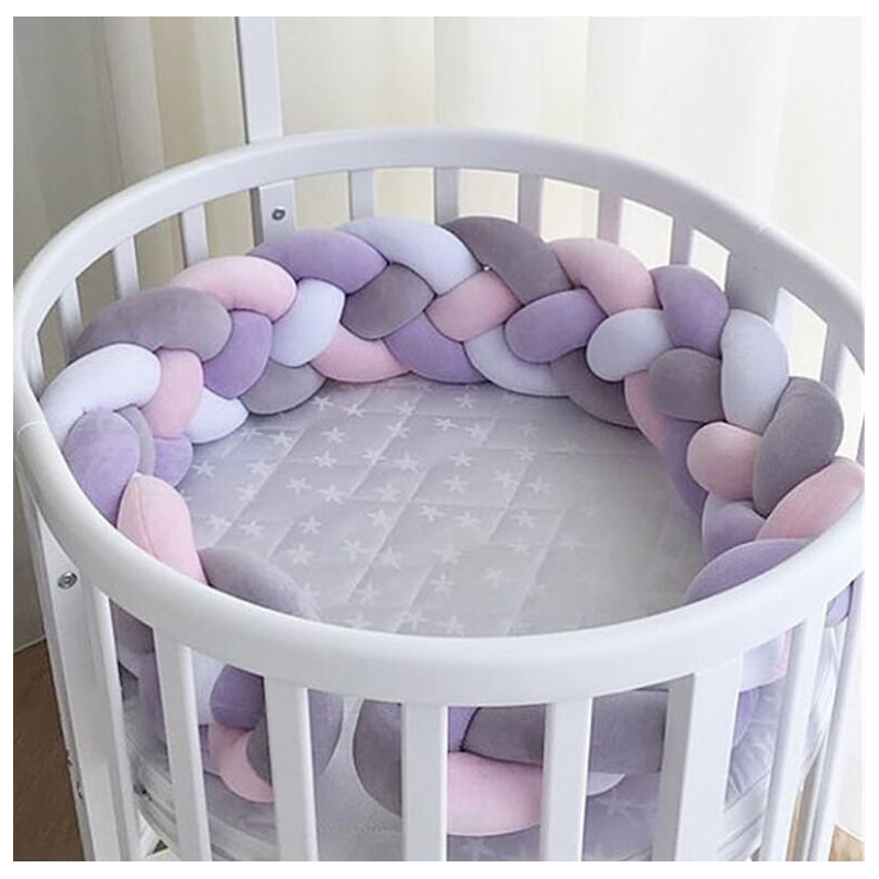 Soft Pink Baby Infant Bedding Bumper Collision Creeping Guardrail Bed Crib Safety Rail Protect Room Decoration Newborn 220cm darkness creeping
