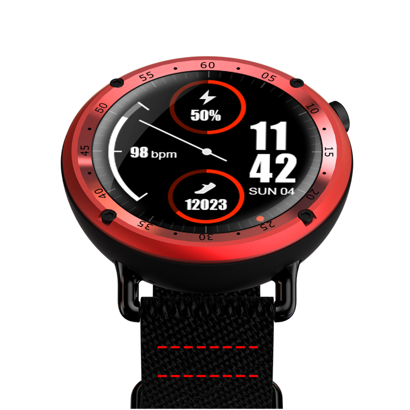 Sports Smart Watch L19 IP67 Waterproof MTK2503 GPS Watchwrist Heart Rate Fitness Tracker Stopwatch Wristwatch BT Clock for IOS