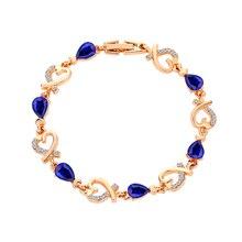 Woman crystal Heart-Shaped Bracelet Wrap Cuff Bangle zircon Bracelets for women Jewelry Wedding fine jewelry