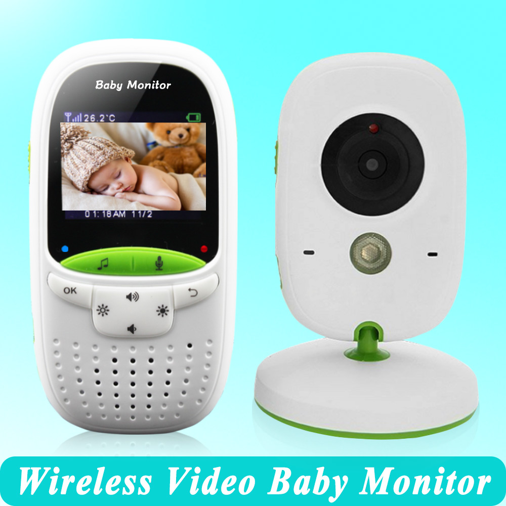 High quality Wireless 2.0 inch Video Color Baby Monitor Security Camera Baby Nanny Intercom Night Vision Temperature Monitoring-in Baby Monitors from Security & Protection    1