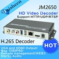 H.265 Decodificador H.264 Substituir VGA & saída HDMI repleace topbox & PC transmissor IP codificador decodificador