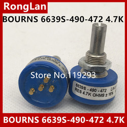 [BELLA]Brand new US BOURNS 6639S-490-472 4.7K conductive plastic potentiometer with tap on spot