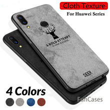Cloth Deer Phone Cases For Honor 8X Max Case Silicone Cover Huawei 9 8 Lite Play Note 10 View X8 Funda Coque