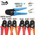 HSC8 6-6 HSC8 6-4 MINI engarce Alicates de auto ajustables 0,25-6mm 6-16mm multi tools hands alicates marca superior LUBAN