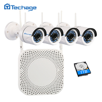 Techage 720P Home Security Wireless WiFi NVR Kit Indoor Outdoor 1 0MP Full HD P2P CCTV