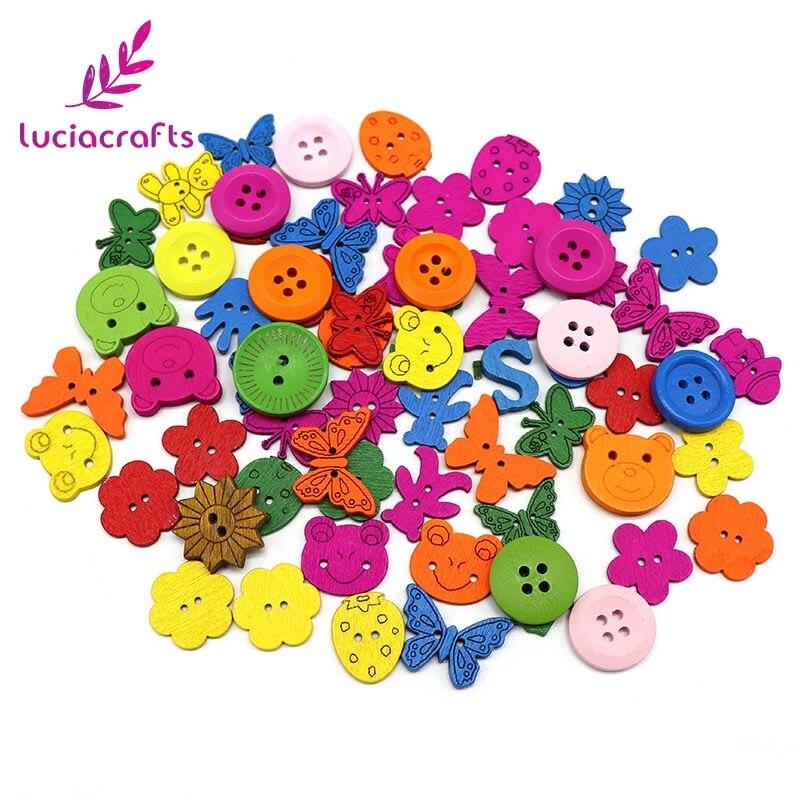 Lucia crafts Appr: 20 г смешанный произвольно деревянные пуговицы из смолы DIY Швейные плоские с оборота пуговицы, аксессуары для одежды E0102 - Цвет: style 3