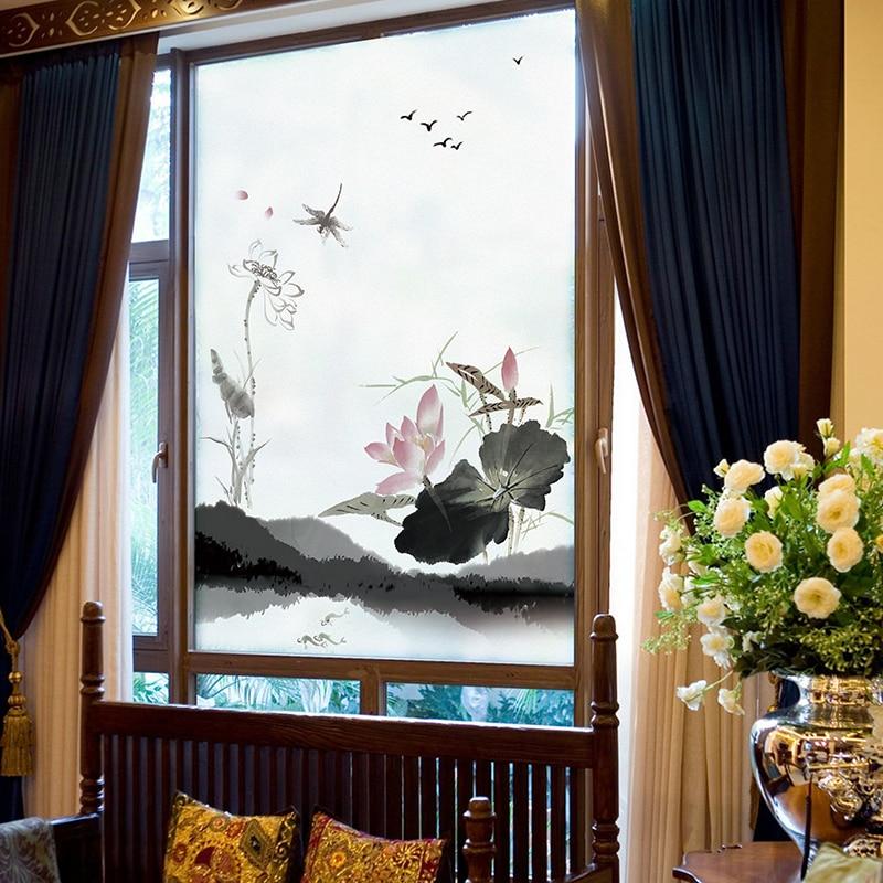 Custom Chinese Window Mat Frosted Glass Window Balcony