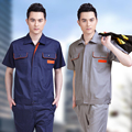 Summer short-sleeve work wear work clothes set male work wear protective clothing workwear