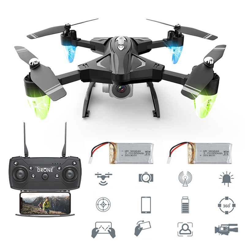 F69 Drone Remote Control Wifi FPV 480P/10800P Camera 4 Axis Aerial Toy Foldable Aircraft Photography Pictures Video Rc Airplane