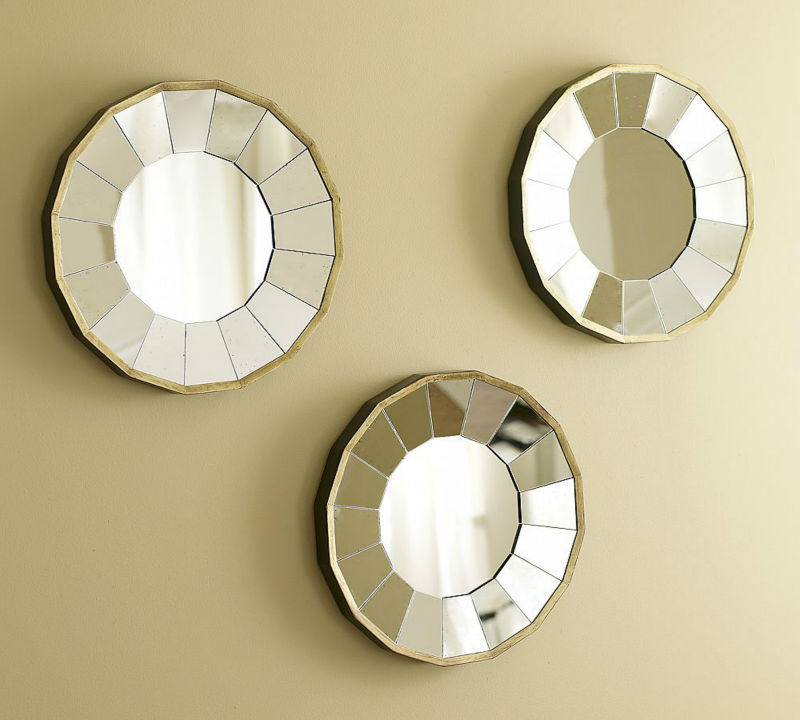 wall decorative mirror art round mirror wall mirror sun mirror decor - Wall Decor Mirrors