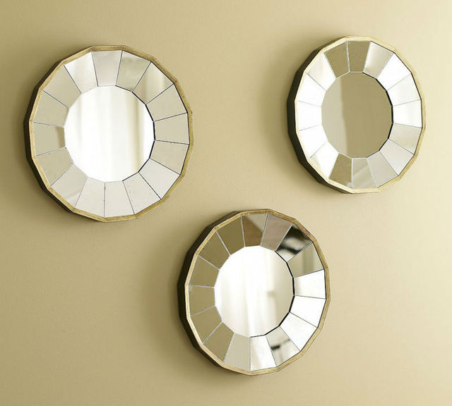 wall decorative mirror art round mirror wall mirror sun mirror decor ...