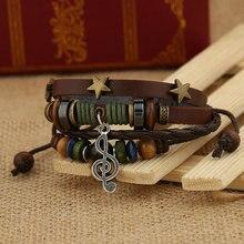 SONGLONG leather bracelet for women bracelets hand woven braclet male female Adjustable Bracelet wholesale