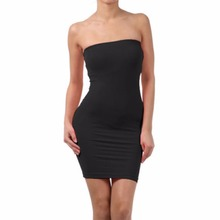 Women Sexy Seamless Strapless skirt Off the Shoulder Slim skirts Stretch Tight Party Club Body-con Elastic Tube Mini skirts