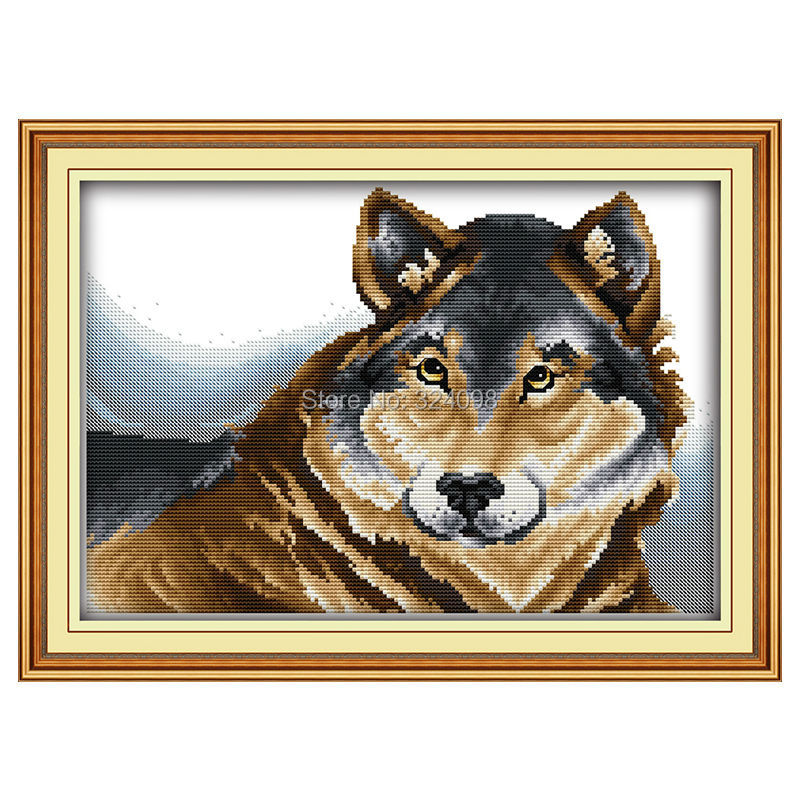 Wholesale Needlework,Stitch,11CT 14CT Cross Stitch,Sets For Embroidery Kits,German shepherd dog Counted Cross-Stitching
