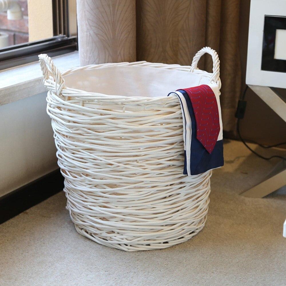 Home Storage & Organisation Wäsche Korb Korb Handarbeit Gewebt Wicker Runde Wäsche Sorter Korb Für Kleidung Cesto De Roupa