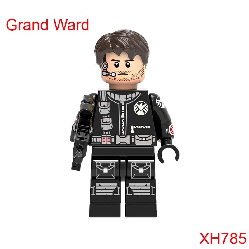 Grand Ward Mini Bricks Single Sale Dc Super Heroes The Avengers Justice League Star Wars Building