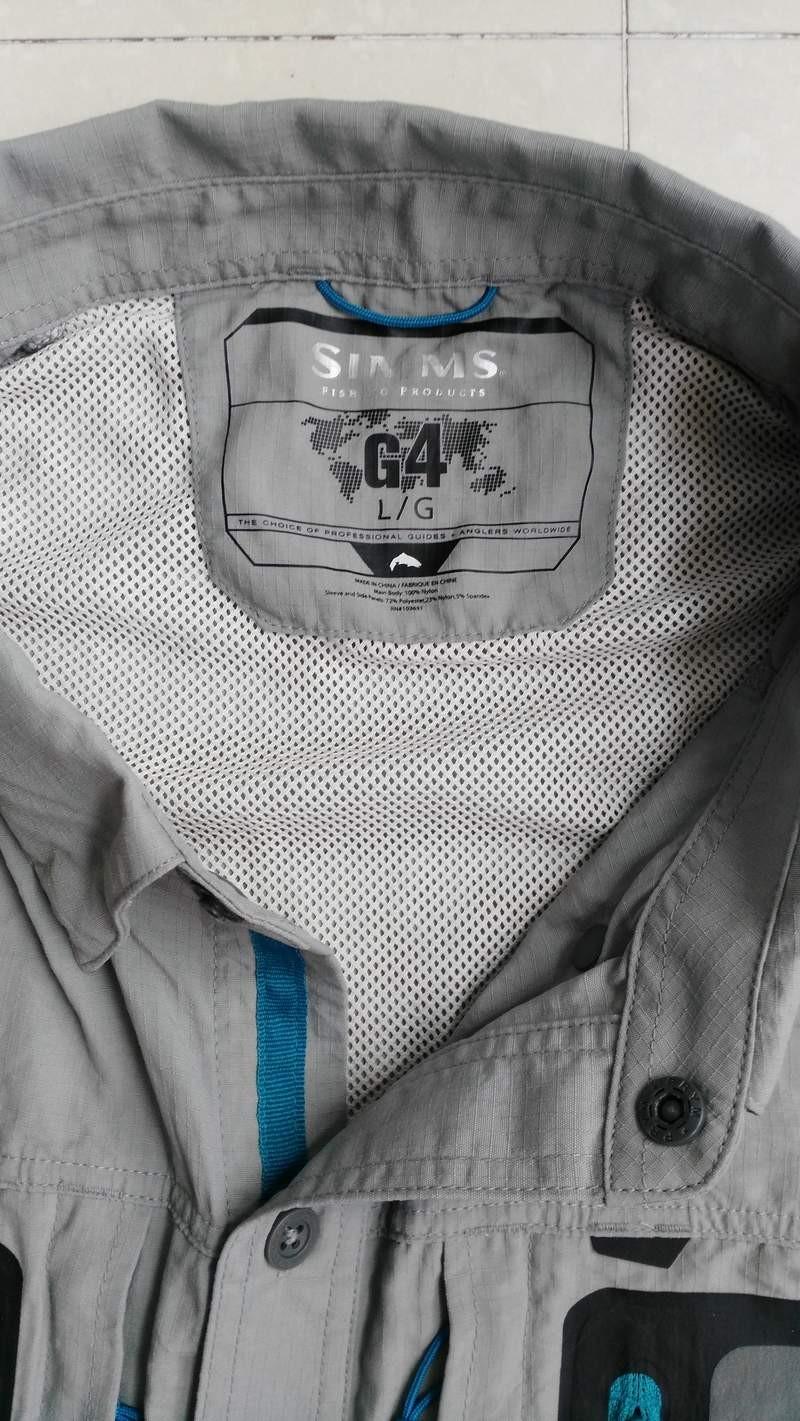 Free P/&P 149.90 GBP Size M Simms Taimen TriComp LS SHIRT Color Smoke