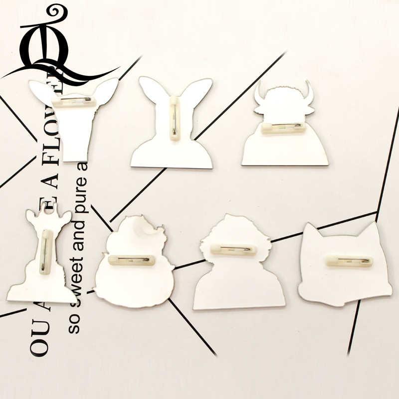 Gratis Pengiriman 1 Pcs Lukisan Kartun Hewan Lencana untuk Pakaian Akrilik Lencana Kawaii Ikon Di Ransel Pin Bros Lencana 25