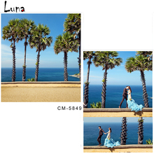 Seascape Vinyl Photography Background Backdrop For Wedding Seaside Photo New Fabric Flannel Background For Photo Studio 5849