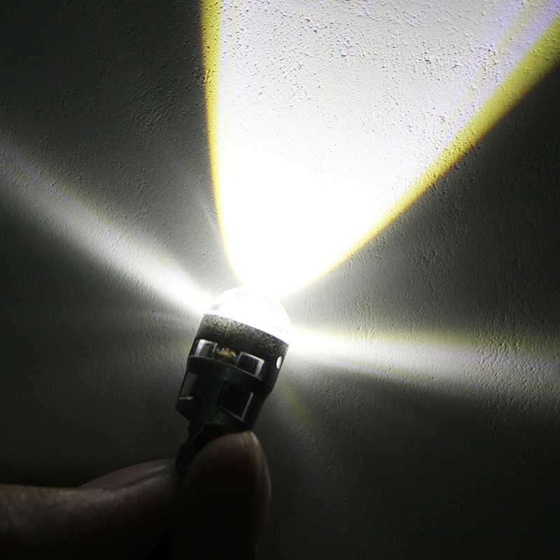 1x T10 led ampoule w5w voiture DRL 194 168 lumières de dégagement lecture intérieur remplacement plaque d'immatriculation lampe 12 V 6000 k blanc voiture style