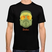 Spring On Sale Men T Shirt The Lebowski Series Walter Short Print Cotton Hip Hop Tees