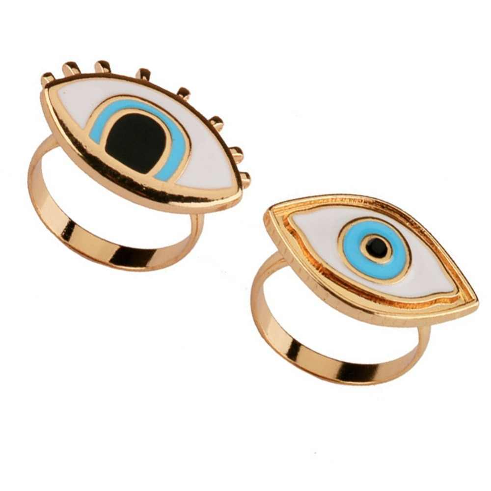 Limited Time-limited Resin Punk Anel Ring Anillos Turkish Evil Eye Rings Jewelry Bff Best Friends Couple Fashion Designer