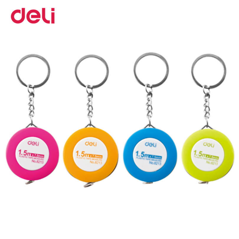 Deli Multi-color Sewing Retractable Ruler Tape Measure 1.5M Tailor Seamstress Flexible Sewing Cloth Messure Accessaries