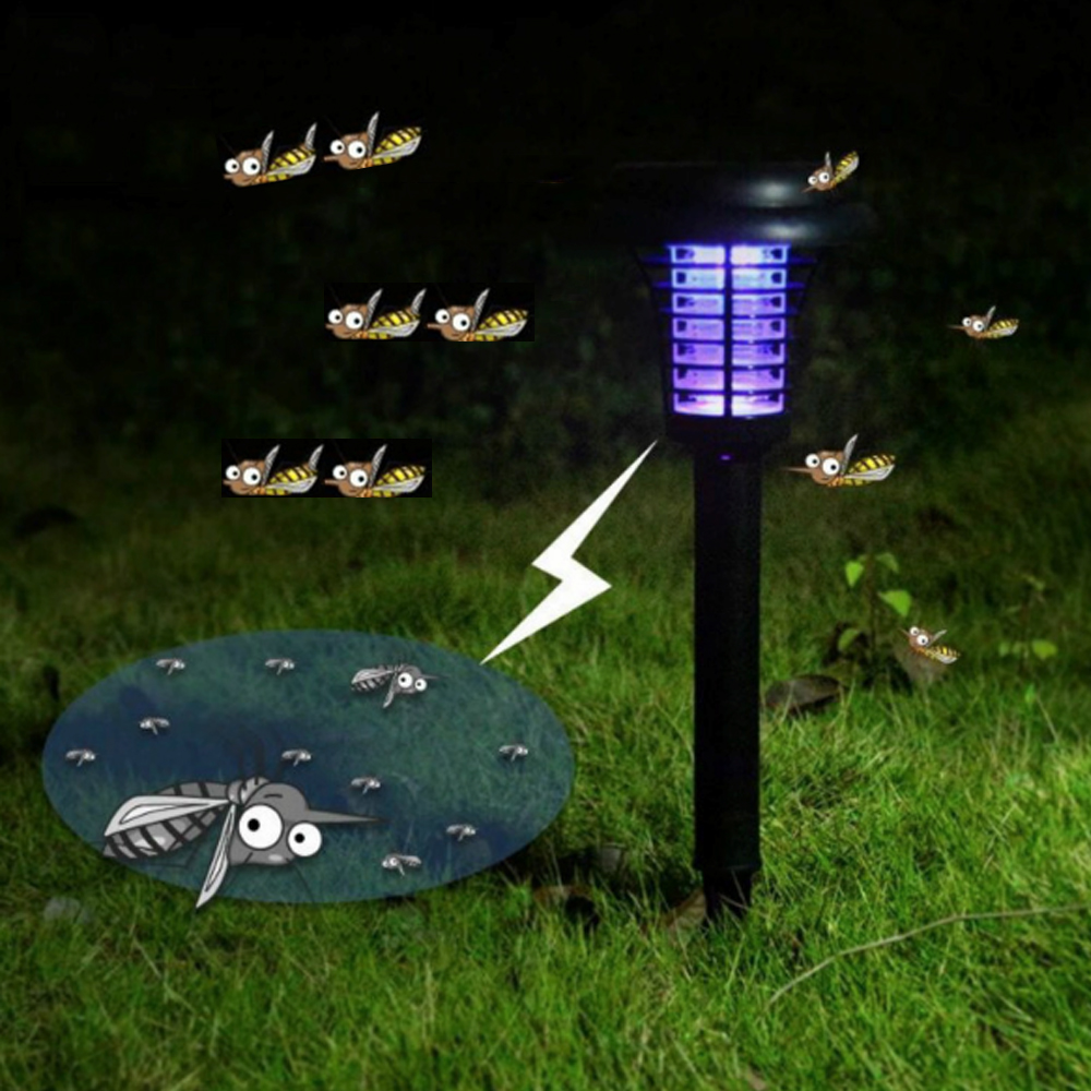 Solar Power Mosquito Killer Lamp Trap killer Mosquito Bug Zapper Night Light LED Lamps Outdoor Solar Garden Lawn Bulb Lights цены онлайн
