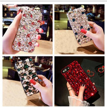 XINGDUO for iphone6 6s 7 8 plus iphoneX XS MAX XR Luxury Glitter Back Cover Crystal Bling Diamond rhinestone soft Phone case