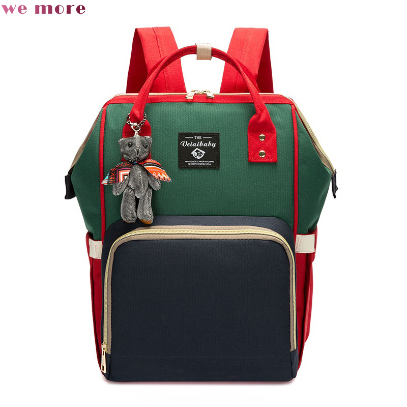 we more Multifunction Mother And Shoulder Bag Large Capacity Mother And Baby Fashion Treasure Mother Out Backpacks circus hotel платье до колена